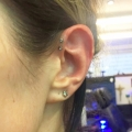 Double Forward Helix Piercing