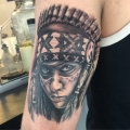 Native American Portrait Tattoo