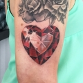 Ruby Heart Tattoo