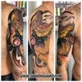 Colour Japanese Dragon Tattoo