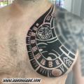 Freehand-Maori-Chest-tattoo