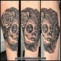 Day of the Dead portrait Tattoo