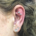 Double Outer Conch Piercings