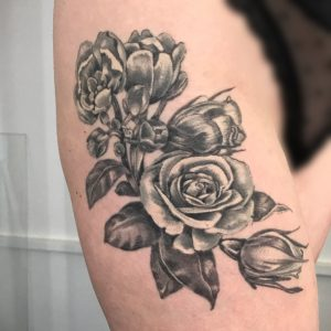 Healed Colour Grey Roses by Iaint Nosaint at I Aint No Saint, Abbots Langley, Hertfordshire