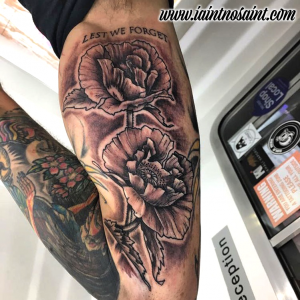 Remembrance Poppy Tattoo by Iaint Nosaint