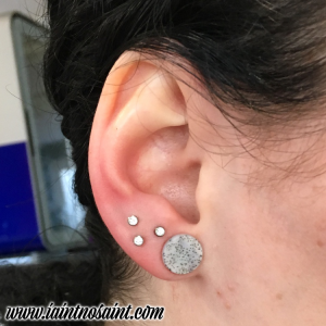 Decided That A Triangle Lobe Piercing Is For You Then Come In To The I Ain T No Saint Studio Any Time During Our Opening Hours Mon Sat 10 30am 5 30pm And