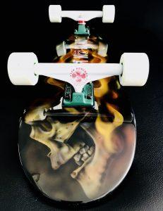 Limited Edition FIRE EXIT Skateboard I Aint No Saint Streetwear